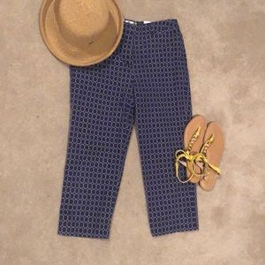 Talbots navy and white crop pants/capris